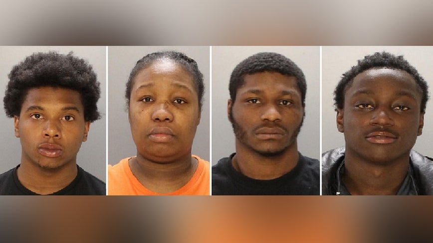 4 people charged after man's body found inside trash can in Olney