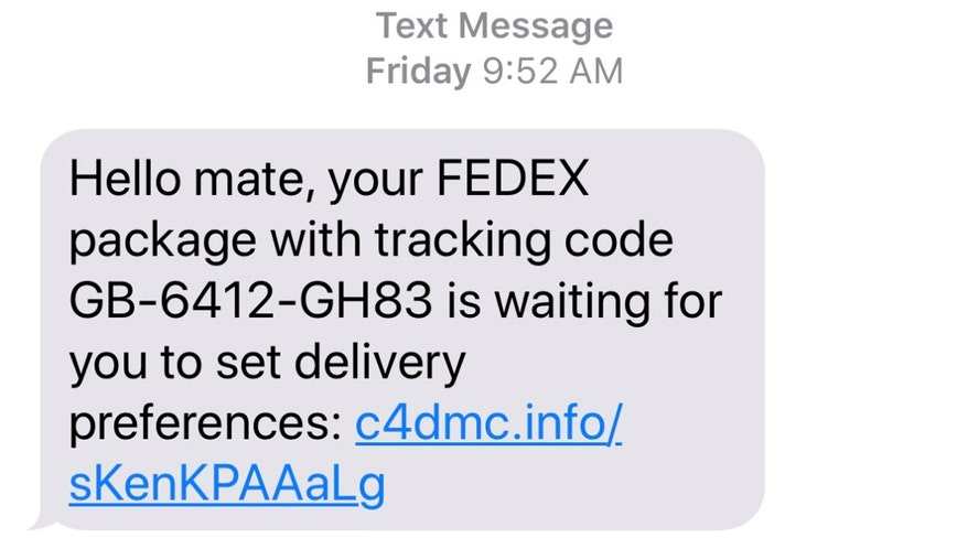'Do not open': Scam text message poses as package tracking notification, report says