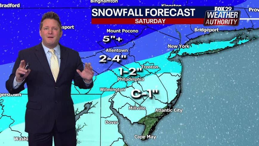 Weather Authority: Snow ahead of rain showers Saturday