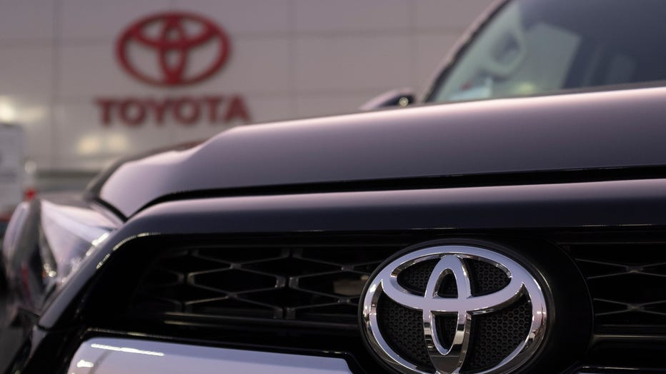 The Toyota logo is seen on a vehicle at a dealership in San Jose, California on Aug. 27, 2019. (Photo by Yichuan Cao/NurPhoto via Getty Images)