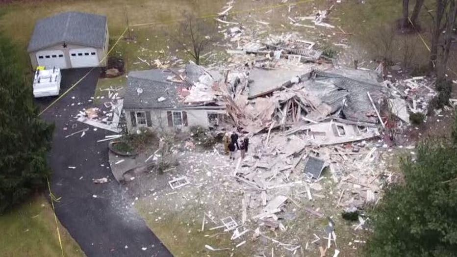 Bucks County house explosion