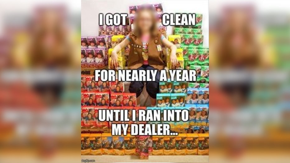 Meme Relating Girl Scout Cookies To Drugs Circulating On Social