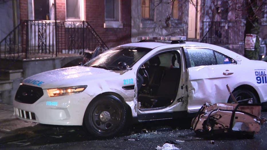 Kensington police cruiser crash