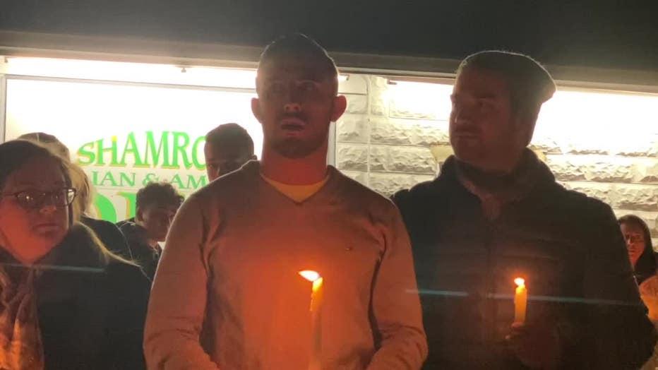 Vigil for deli owner