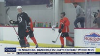 Flyers sign 15-year-old cancer patient contract