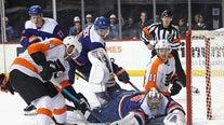 Pulock's late goal helps Islanders beat rival Flyers 5-3