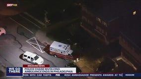 Police capture suspect after stolen ambulance chase in Philadelphia
