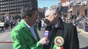 Irish politician David Stanton stops by Philly's St. Patrick's Day Parade