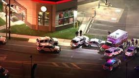Stolen ambulance strikes police cruisers in Northeast Philadelphia