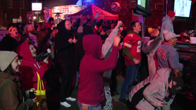 Kansas City Chiefs fans celebrate Super Bowl LIV victory in South Philadelphia