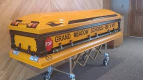 Beloved Minnesota school bus driver honored with special casket