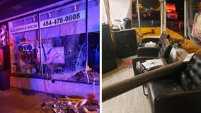 Springfield hair salon heavily damaged after car crashes into it