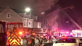 3-alarm fire rips through four row homes in Trenton