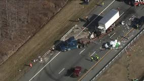 I-95 southbound in Newark reopened after tractor-trailer crash, hazmat situation