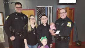 Aston police officers help deliver baby girl