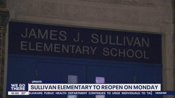 James Sullivan Elementary School set to reopen Monday