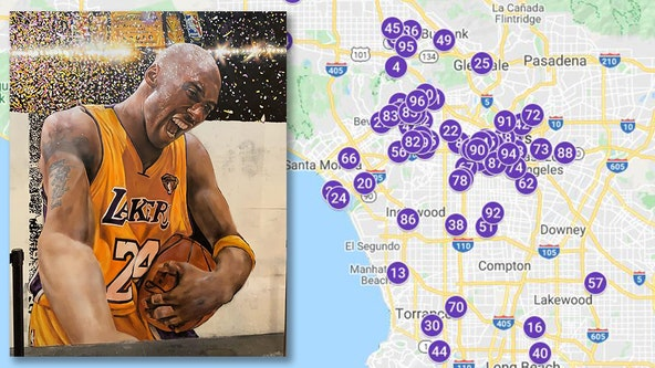 Kobe Bryant Mural Map: Photos, artist info, locations in Los Angeles, worldwide