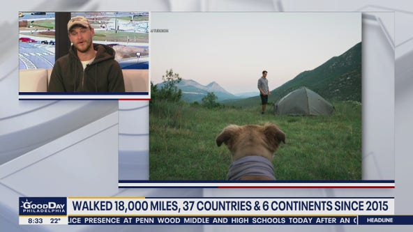 South Jersey man updates his journey to walk around the world with his dog