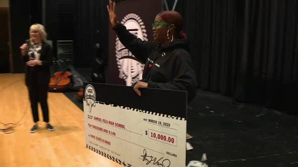 Rapper Tierra Whack surprises Philadelphia students with $10K music grants
