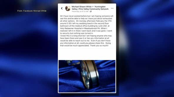 Local man pleads for help finding missing wedding band