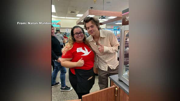 Harry Styles spotted at Wawa in Delaware, signs burrito bag for fan