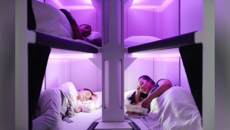 Air New Zealand economy bunk beds