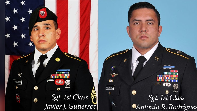 The U.S. soldiers killed were identified as Sgt. Javier Jaguar Gutierrez and Sgt. Antonio Rey Rodriguez, both 28.