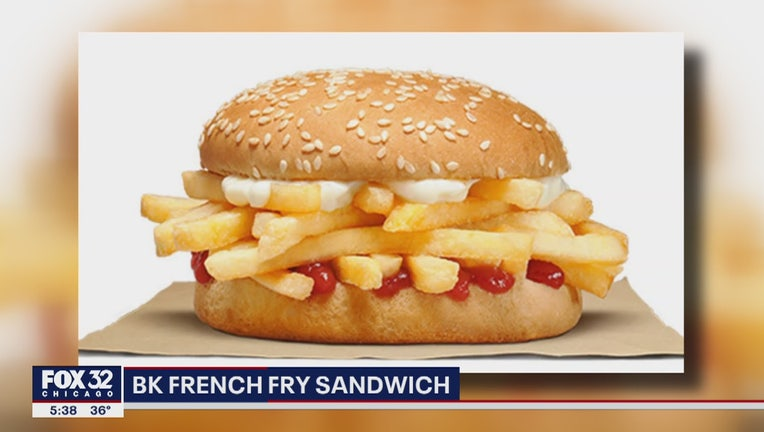 burger king french fry sandwich