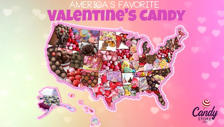 Candystore.com used data from the past 12 years to determine the most popular Valentine's Day candy for each state.