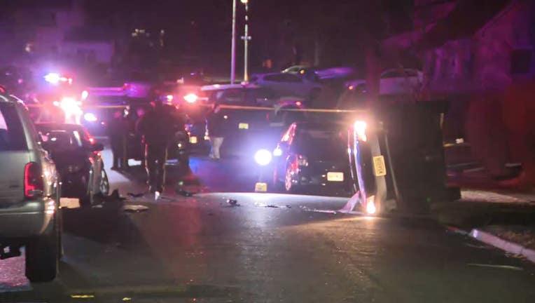 Pinetree Lane car overturned
