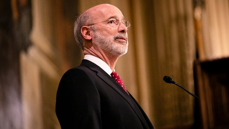 Gov. Tom Wolf delivers his budget address.