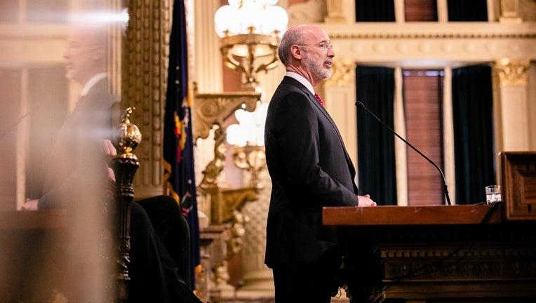 Gov. Tom Wolf delivers his budget address.