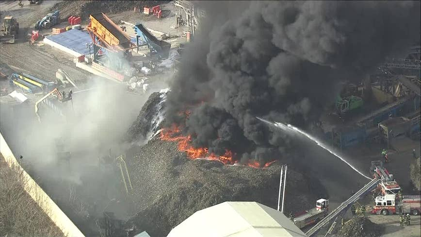 Firefighters battle blaze at Camden junkyard