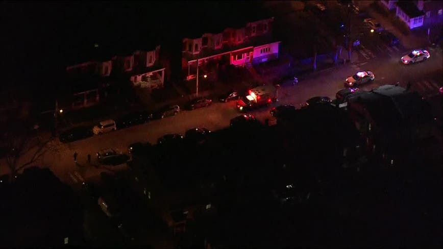 Police chasing ambulance in Philadelphia