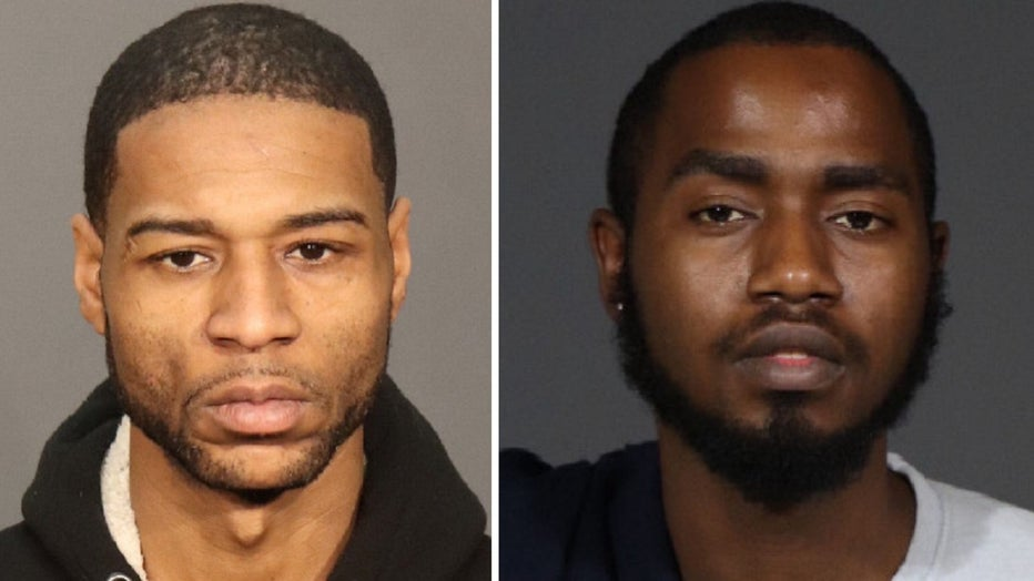 Andrew Joyner, 35, and Gary Dunbar, 23, were charged with robbery, terroristic threats and related offenses