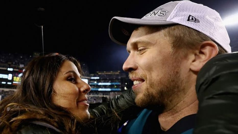 Nick Foles with his wife, Tori.
