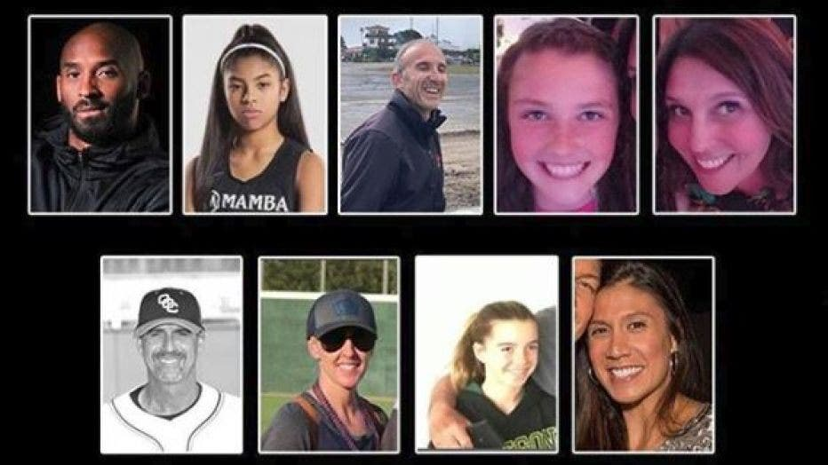 Victims of the Calabasas helicopter crash