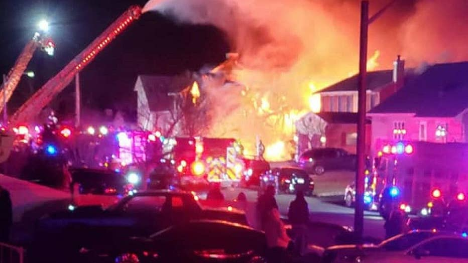 The fire broke out on 15th Street in Toms River over the weekend.