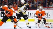 Boston beats Philadelphia 2-0, ends Flyers 9-game win streak