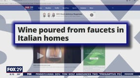 Wine poured from faucets in Italian homes