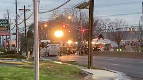 Overturned tanker truck, fuel spill closes Route 130 in both directions in Pennsauken