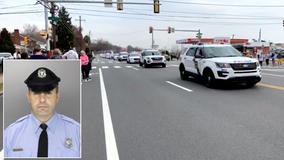 Sgt. James O'Connor honored with Philadelphia police vehicle procession