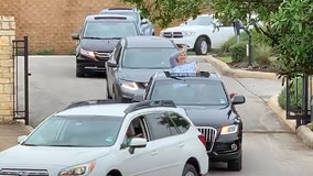 'We miss you!' Teachers drive through neighborhoods to greet students amid COVID-19 outbreak