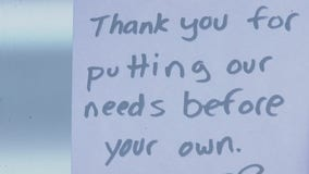 Customers leave words of encouragement for healthcare workers at West Reading pizza shop