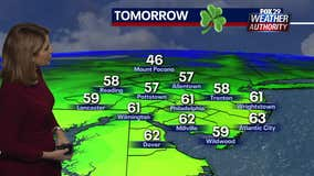 Weather Authority: Morning showers with mild temperatures expected St. Patrick's Day