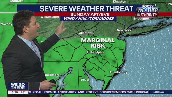 Weather Authority: Severe weather possible Sunday night