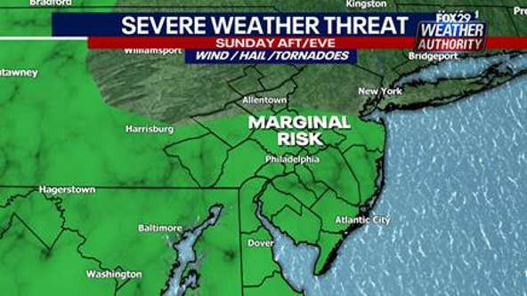 Weather Authority: Gloomy Sunday ahead with slight risk of severe weather