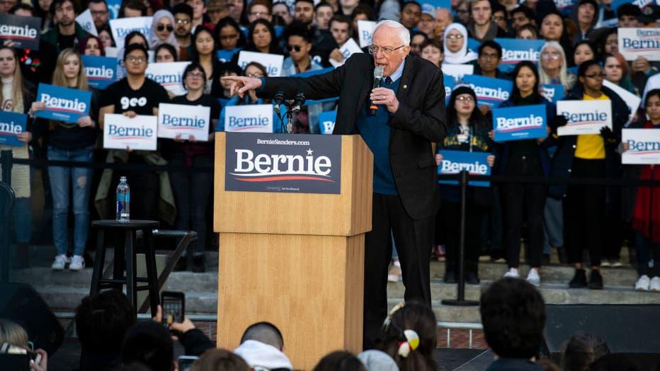 5b5c3f80-Presidential Candidate Bernie Sanders Campaigns Across Michigan Ahead Of Primary