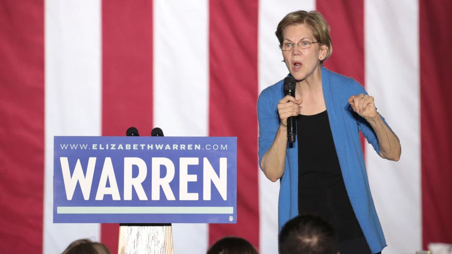Democratic Presidential Candidate Elizabeth Warren Holds Super Tuesday Night Event In Detroit