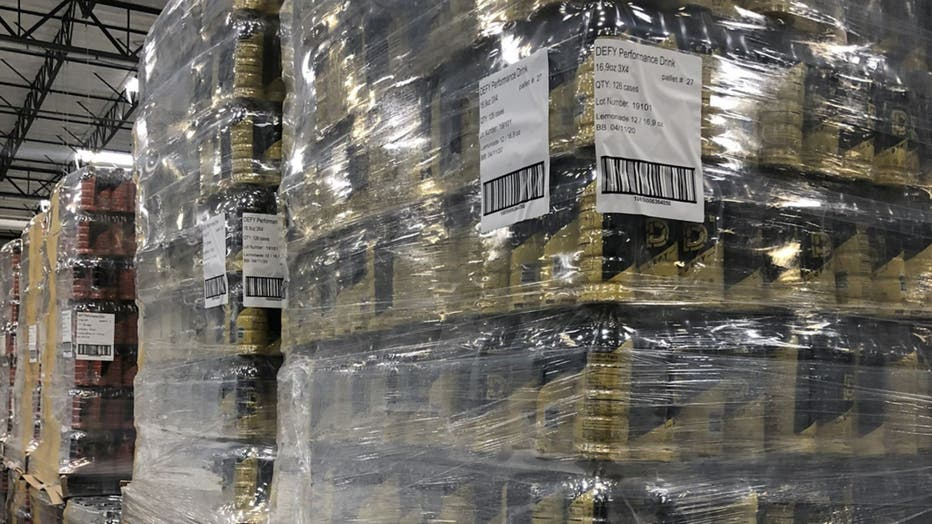 Davis is providing 50,000 bottles of his beverages to Feeding America banks across the country, including in Los Angeles, New York, Chicago and Detroit.